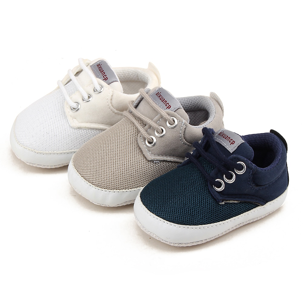 Cute Toddler Kids Canvas Sneakers Baby Boy Girl Soft Sole Crib Shoes 0-18Months