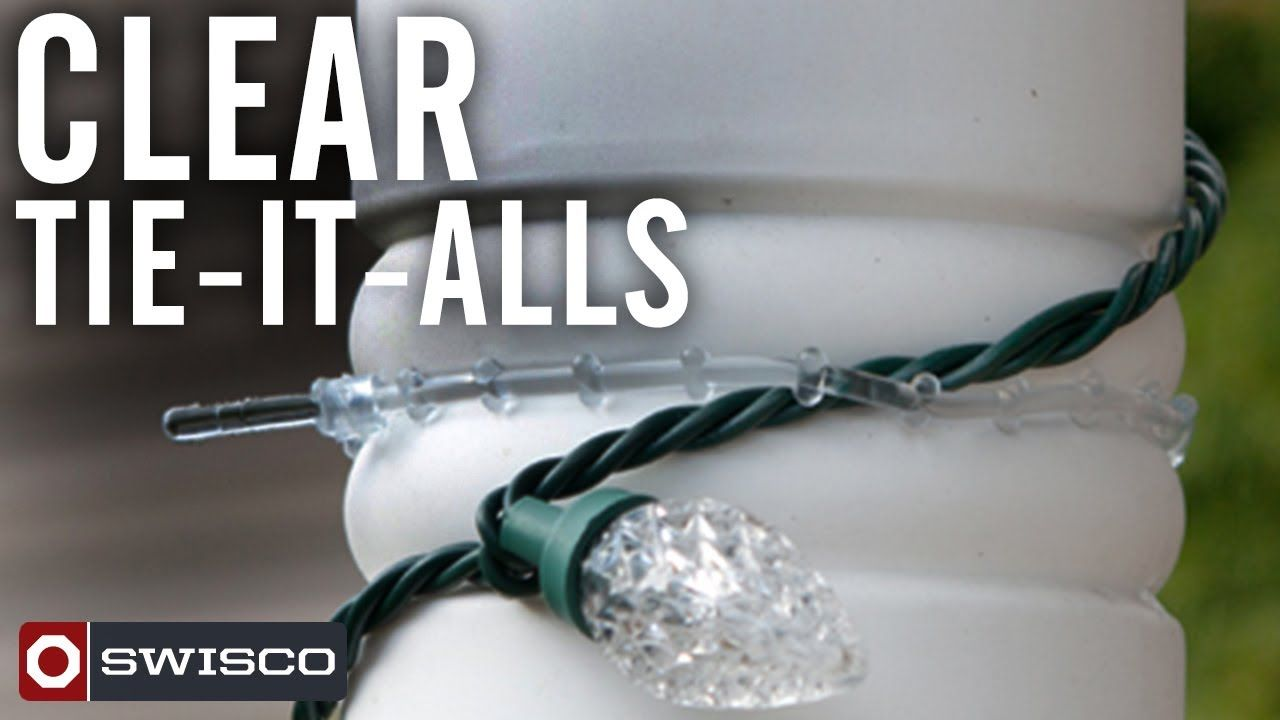 #HolidayTip Re-usable & flexible Tie-it-Alls.  Ideal for decorating banisters, railings, lampposts, and mailboxes.  Think of SWISCO for decorating hardware this year.  This entire line is manufactured in the USA.  #christmaslights