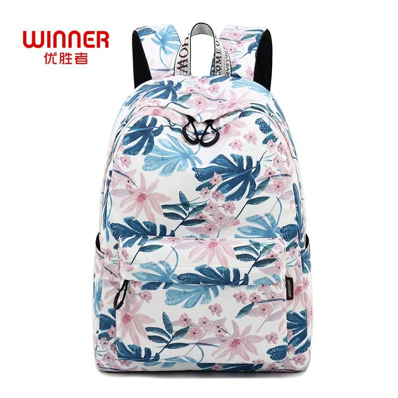 234300140aa2 WINNER Women Backpacks Floral Print Bookbags Canvas Backpack School ...