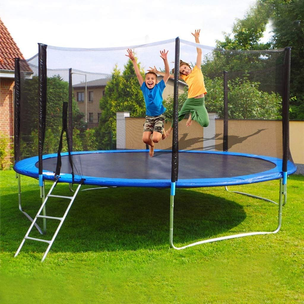 Salaks 12 FT Trampoline with Safety Enclosure Net, Jump
