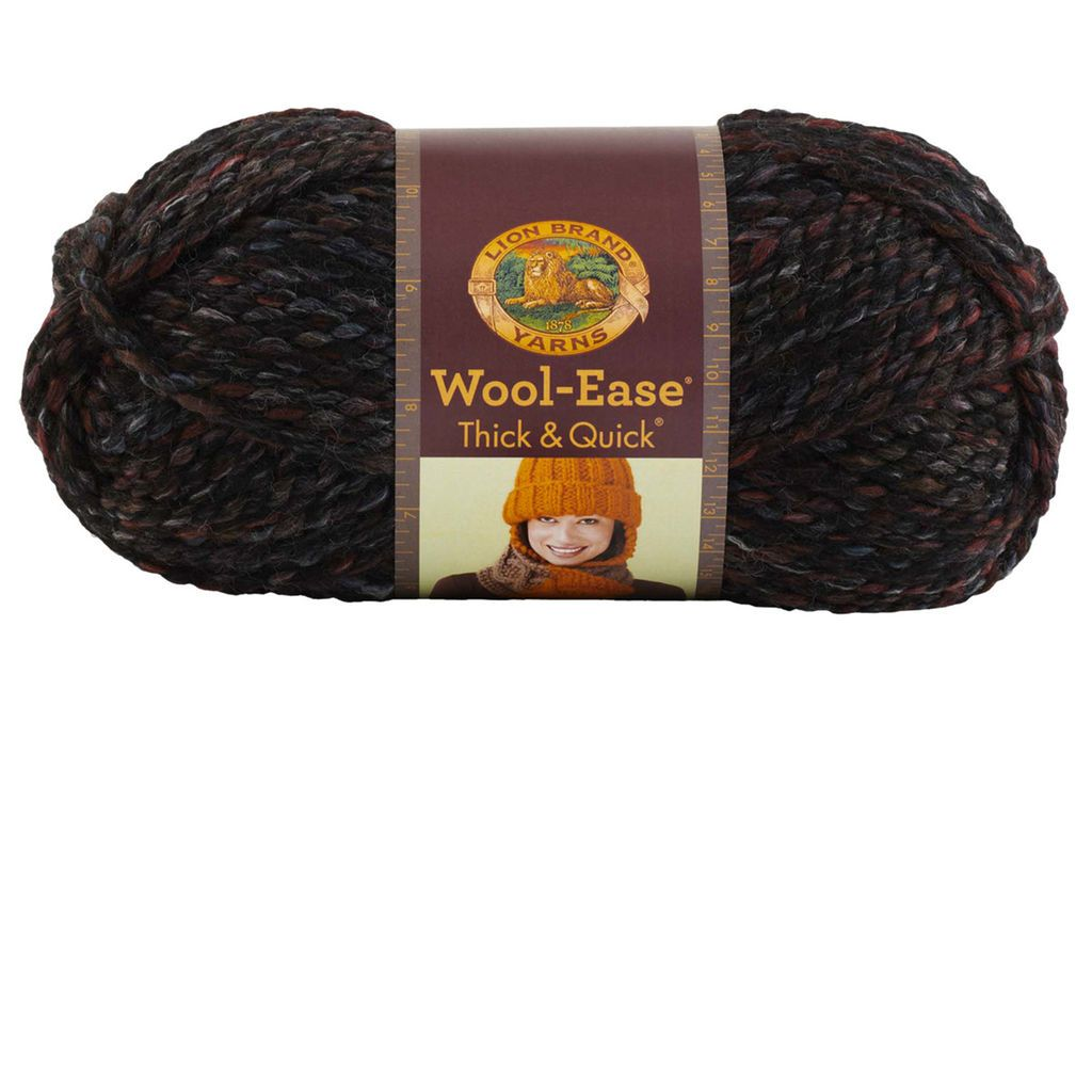 This yarn is the super bulky member of the Wool-Ease family. It has the feel, warmth and softness of wool with the easy care of acrylic.