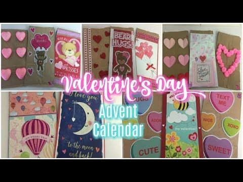 Dollar Tree Diy Valentine S Day Advent Calendar Bags 2018