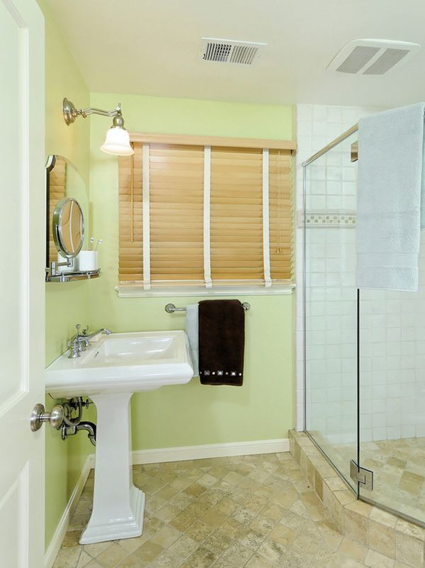 How To Use Green In Bathroom Designs | Pinterest | Brown bathroom ...