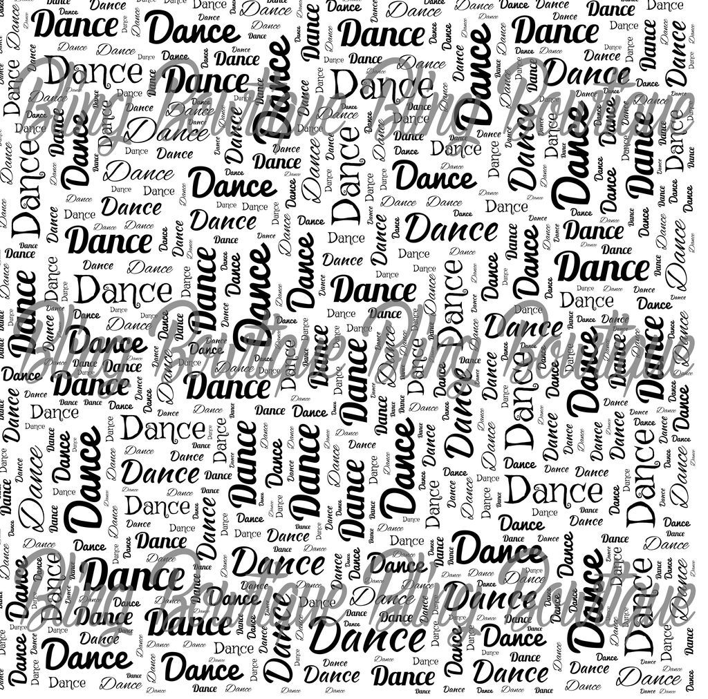 Dance Words Collage Printed Glitter Canvas Regular Canvas Faux Leather For Bows Word Collage Glitter Canvas Print Collage