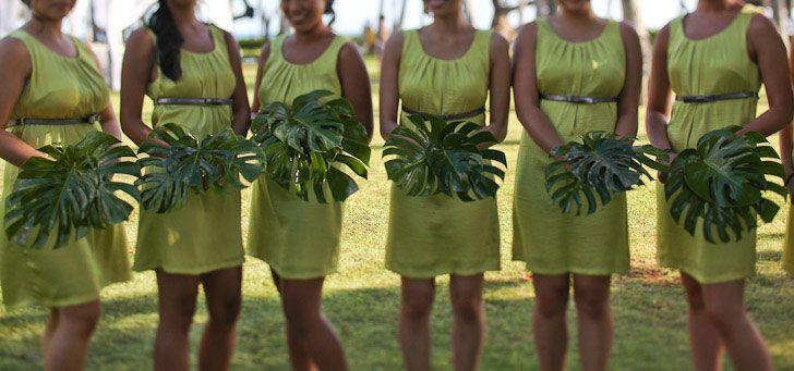 Original Bridesmaids Bouquets For A Hawaiian Wedding