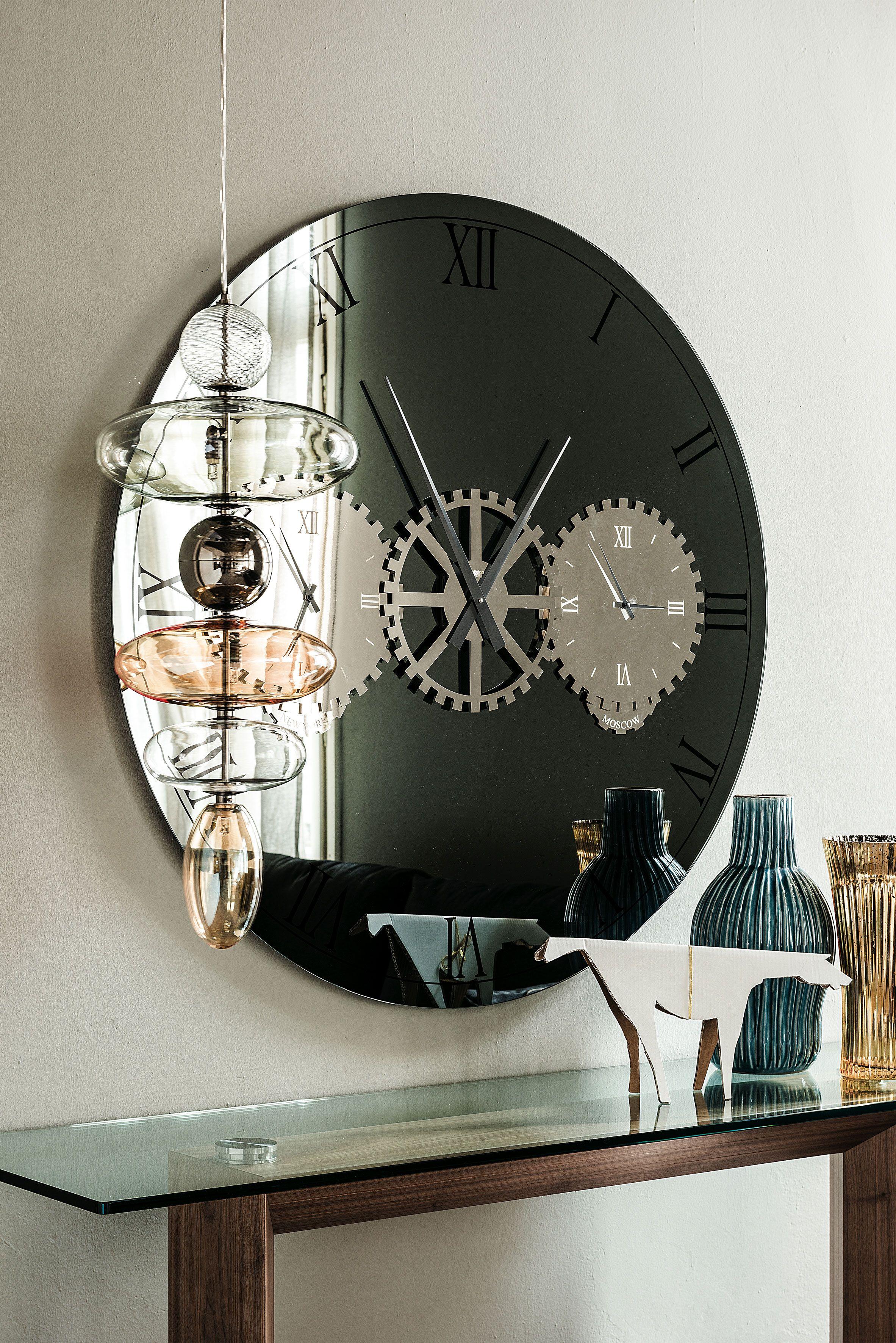 Times Mirror Cattelan Italia Oversized Wall Clock Cattelan Italia Big Clocks