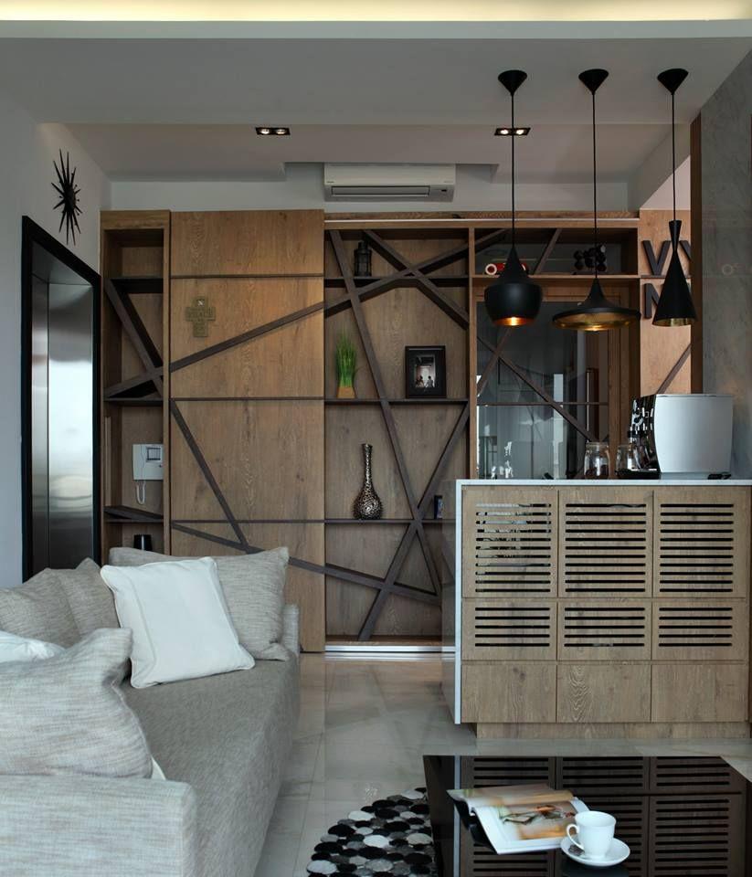 D Fresco Contemporary Condominium Interior Design Living