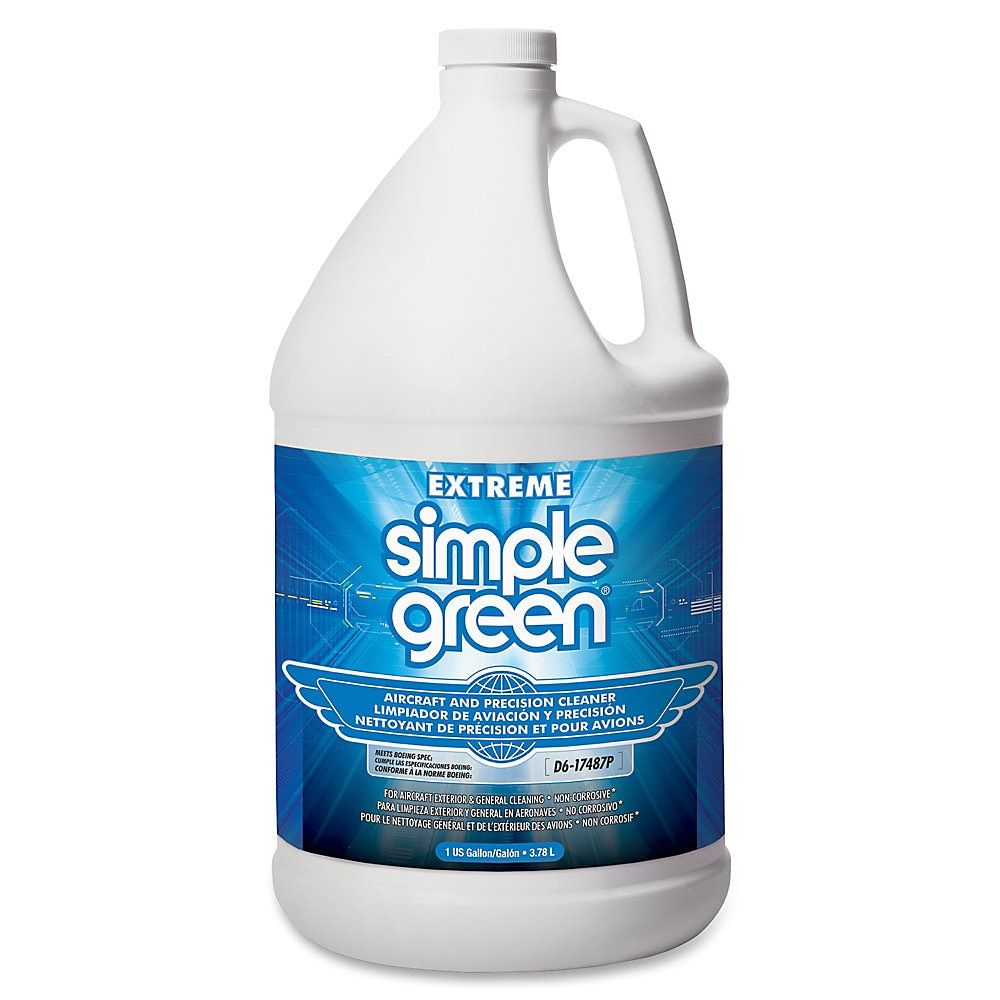 Simple Green Extreme Aircraft Precision Cleaner 1 Gal Unscented 1 Each Clear Degreasers Simple Green Cleaner Bottle