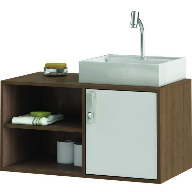 Gabinete Suspenso C Pia Banheiro Castanh Branco 52x44 5x80cm Pias De Banheiro Armario Banheiro E Pias De Marmore