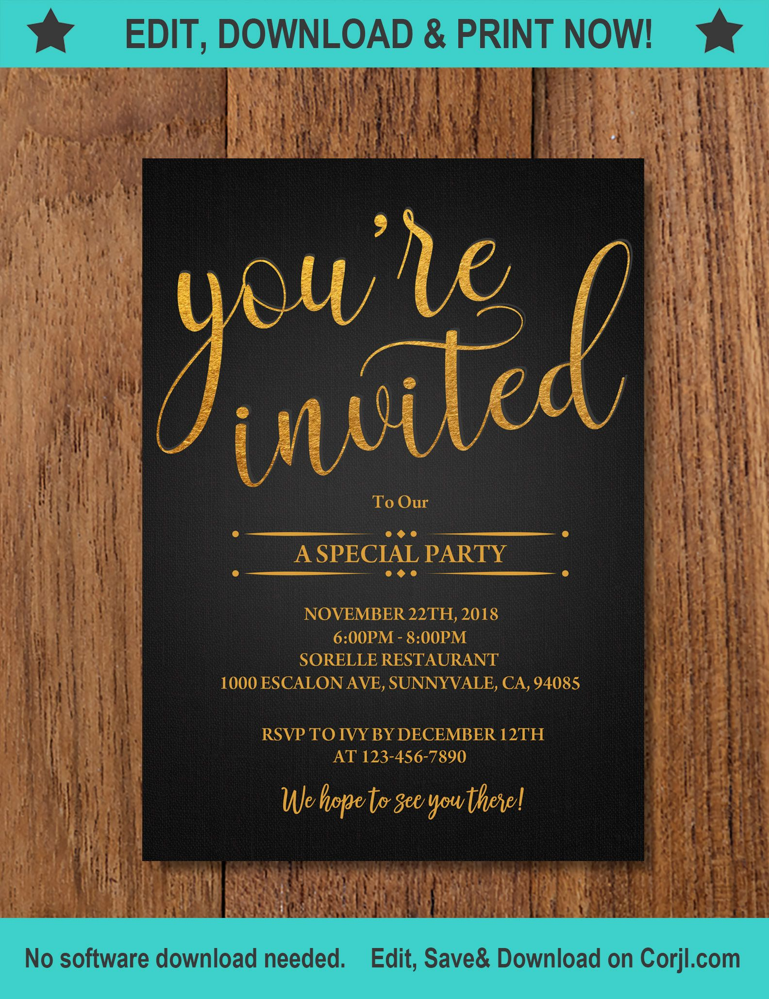 You Re Invited Template You Re Invited Etsy In 2020 Event Invitation Templates Invitation Template Invitations