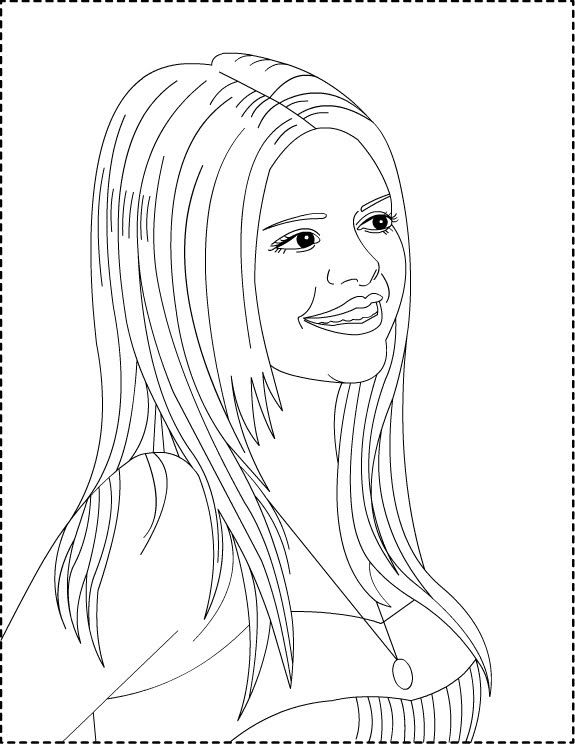 Selena Gomez Coloring Pages Kids World Coloring Pages Free