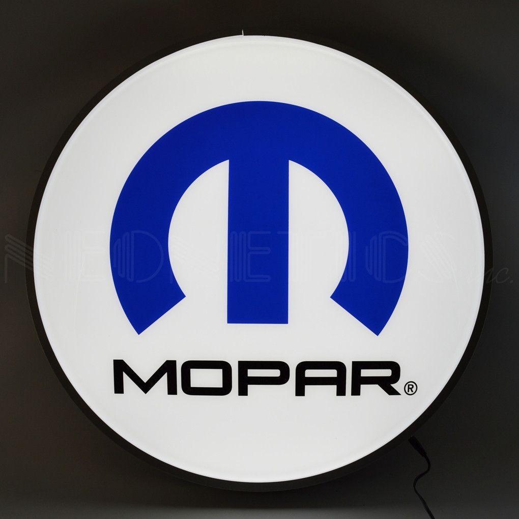 Mopar Omega M 22 Inch Backlit LED Lighted Sign