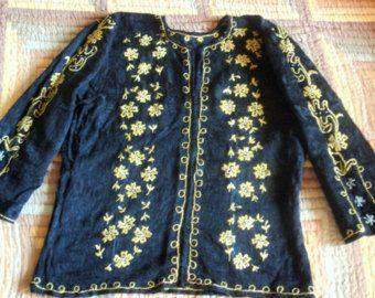 Blusa bordado rumano envío gratis blusa de punto por BlouseRoumaine