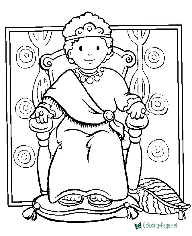 Christian Coloring Pages Boy King