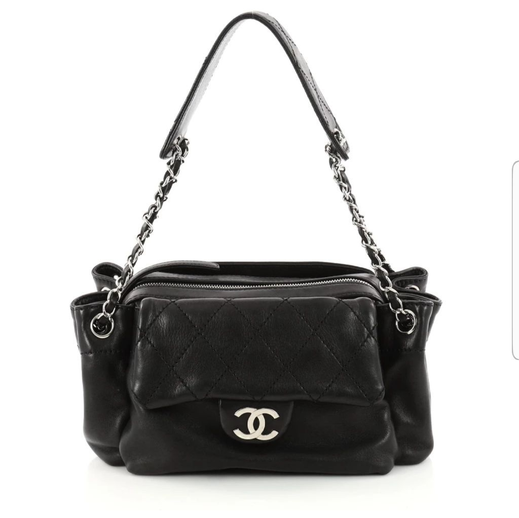 chanel card case with zipper