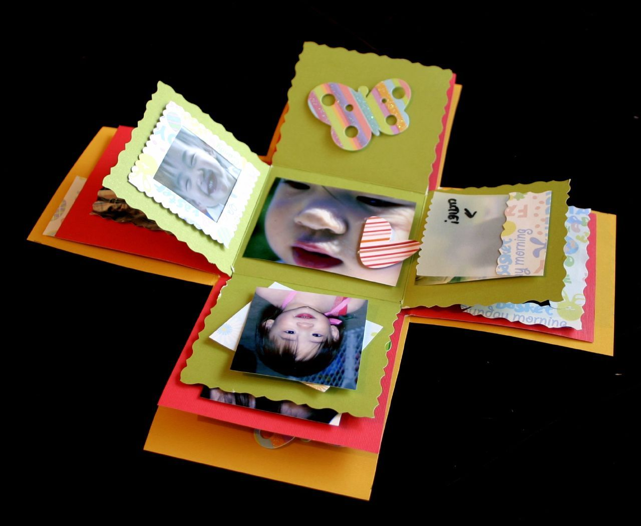 How to make scrapbook box - Exploding Boxes My First Explosion Box