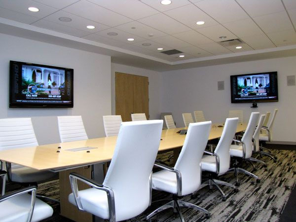 Boardroom style committee room with wifi and screens for for Office design board