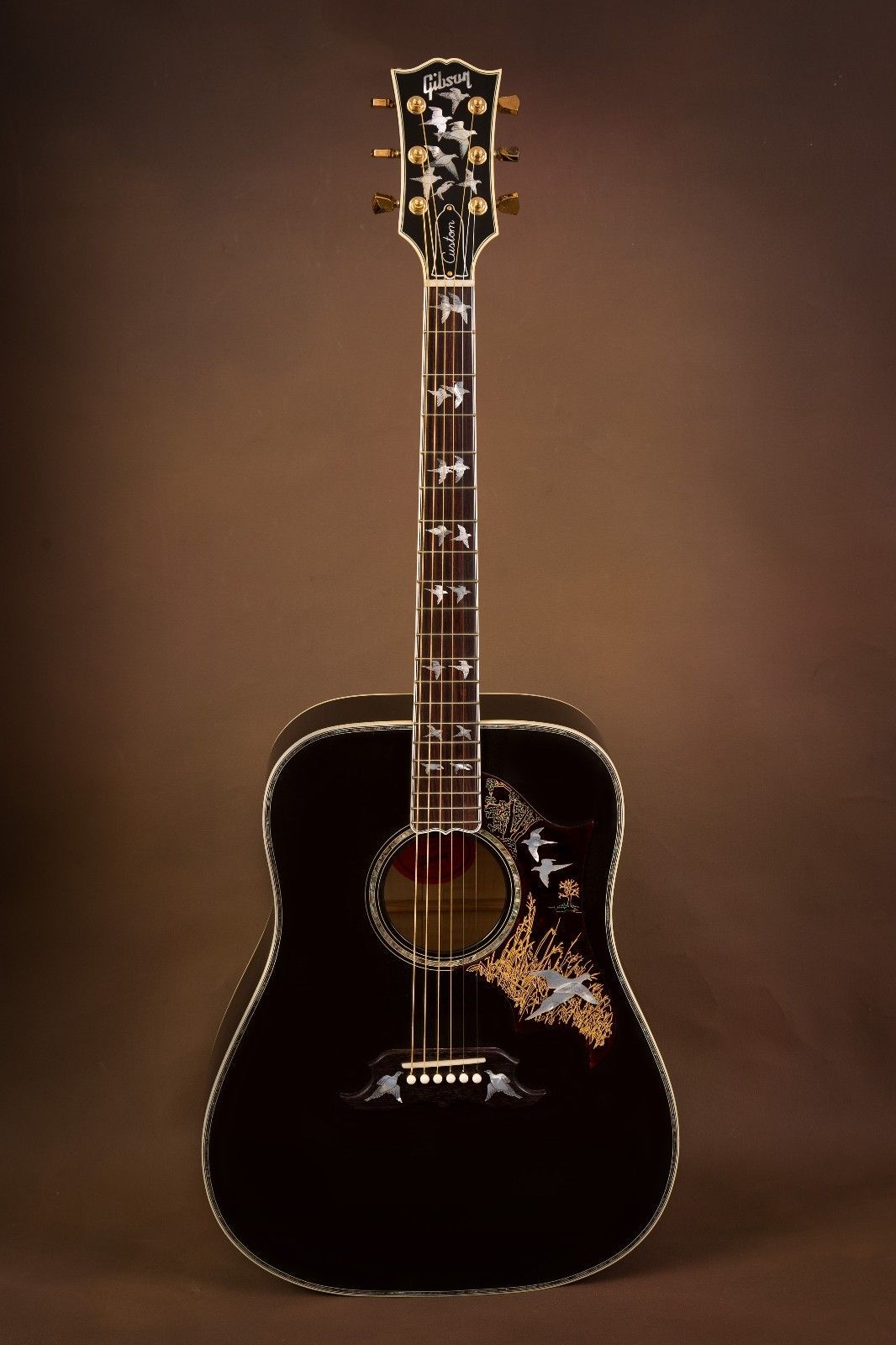 2014 gibson custom doves in flight trans black acoustic guitar in 2019 guitars gibson. Black Bedroom Furniture Sets. Home Design Ideas