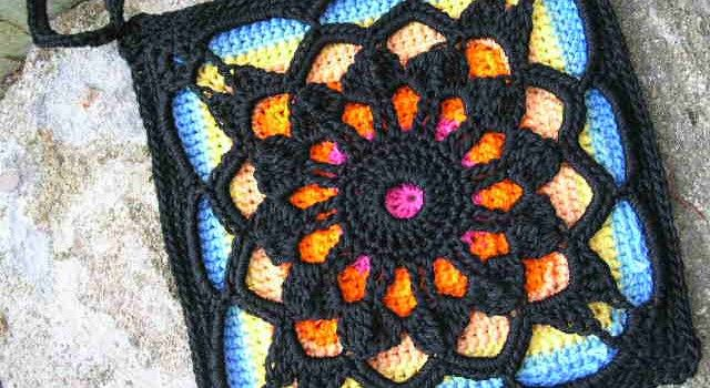 Stain Glass Square - [Free Pattern] Totally Unusual! You'll Be Amazed When You See How This Crochet Square Is Done!