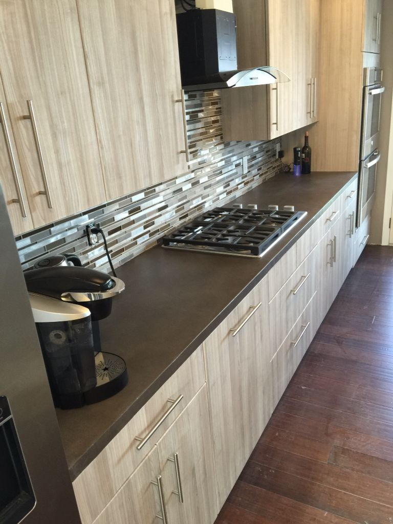 A Guide To Concrete Kitchen Countertops Remodeling 101: Concrete Overlay Countertop Tim Stimers Design LLC