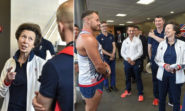 8/7/16*Princess Anne wishes Team GB good luck before they head to Rio