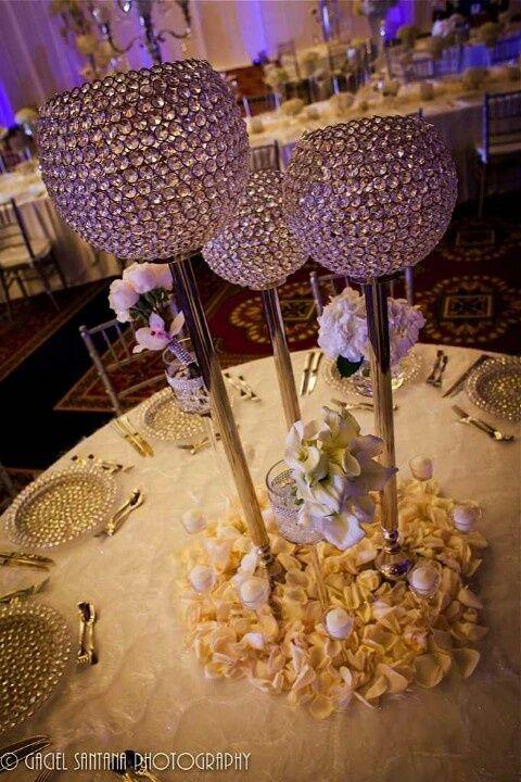 bling centerpieces for wedding reception | Centerpiece | Wedding ...