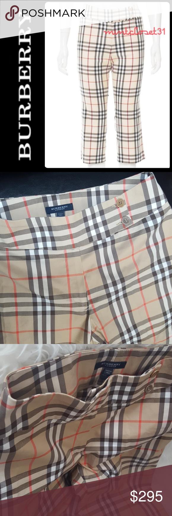 Burberry London Plaid Capris Fashion pants, Clothes