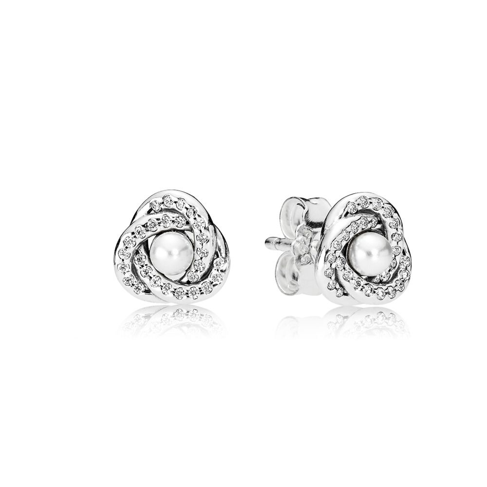 Luminous Love Knots Stud Earrings | Pandora earrings, Sterling ...