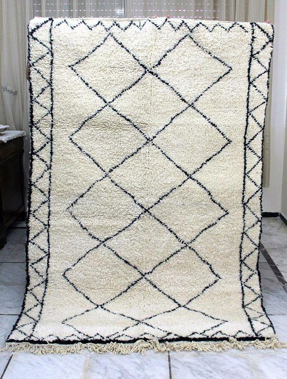Authentische Marokko Beni Ourain Teppich Handgefertigt 100