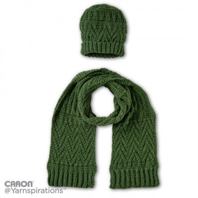 Free Easy Knit Hat And Scarf Pattern Knitting Pinterest Scarf