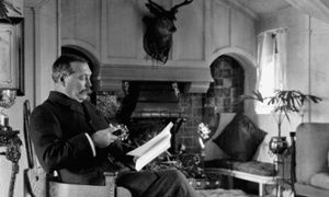 Sir Arthur Conan-Doyle, with his pipe, in around 1912. Photograph: E.O. Hoppe/E.O. Hopp /CORBIS