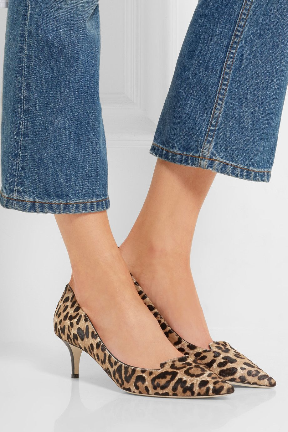 4424933a861 Jimmy Choo Allure leopard-print calf hair pumps $895 Heel measures  approximately 50mm/ 2 inches Leopard-print calf hair Slip on Made in Italy