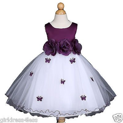 #Butterfly baby #infant easter #wedding flower girl dress 6m 12m 18m 24m 2 4 6 8 ,  View more on the LINK: http://www.zeppy.io/product/gb/2/191927582400/
