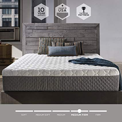 Sleep Innovations Taylor 12 Inch Cooling Gel Memory Foam Mattress Bed Mattress Memory Foam Foam Mattress Bed 12 Inch Memory Foam Mattress