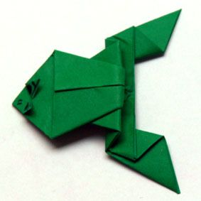 frosch 2 werken basteln origami origami frosch und. Black Bedroom Furniture Sets. Home Design Ideas