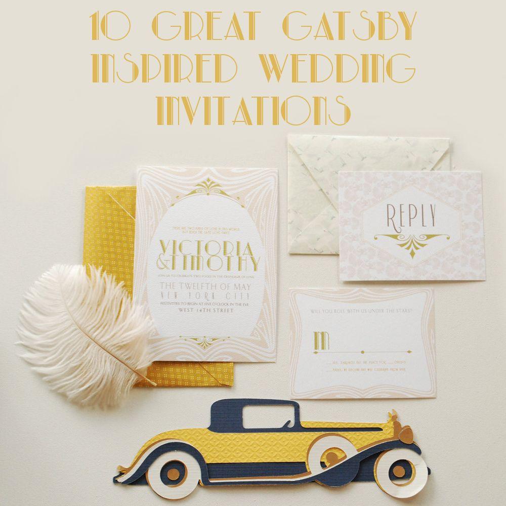 10 Great Gatsby Inspired Wedding Invitations | Some day | Pinterest ...