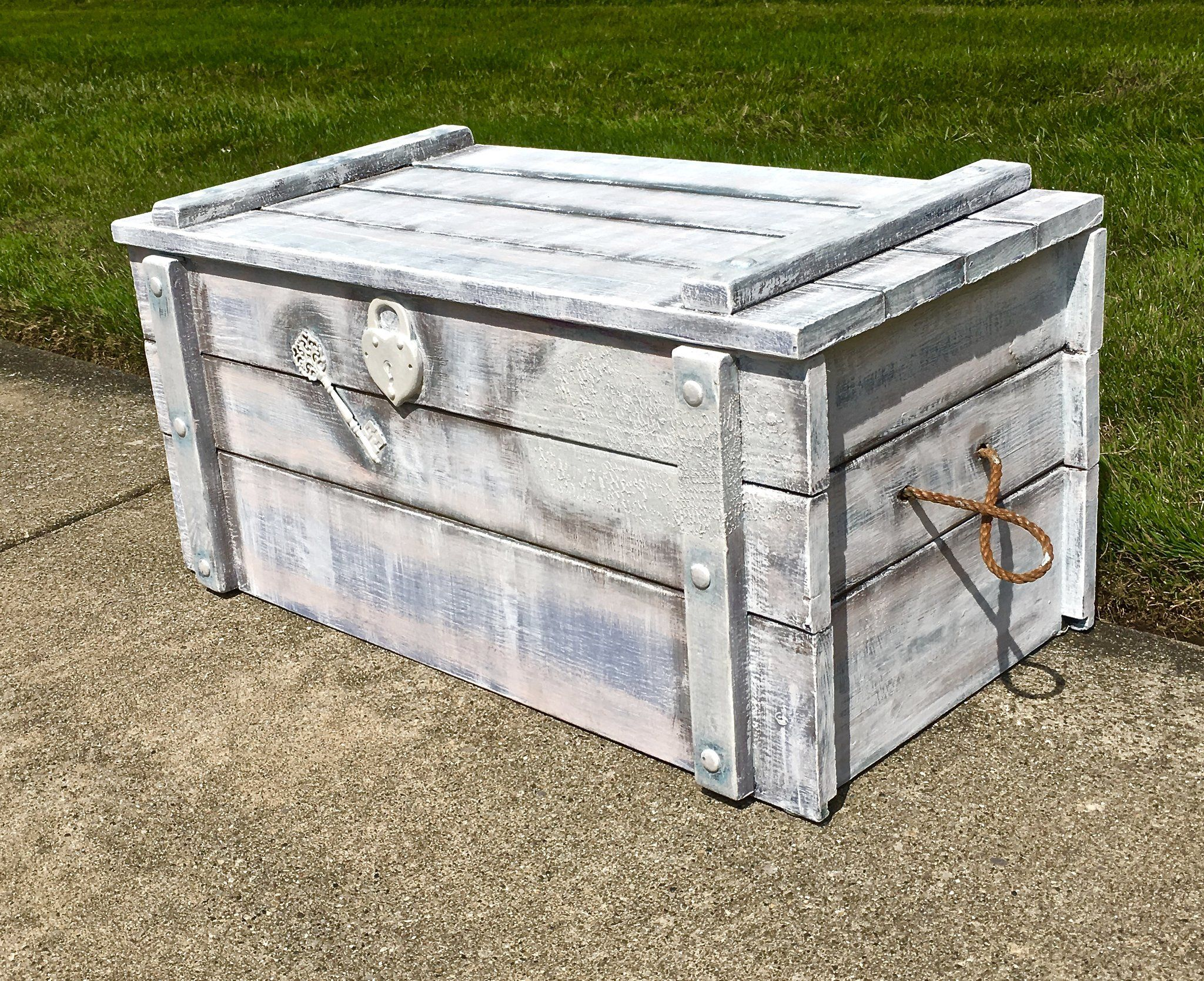 Treasure Hope Chest For Blanket Storage Or Toy Box That Is Custom Made In Chalk Paint Colors And Persona Shoe Box Storage Painted Toy Boxes