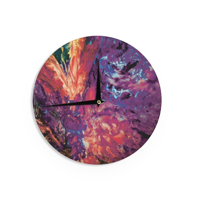 "Mary Bateman ""Passion Flowers II"" Wall Clock"