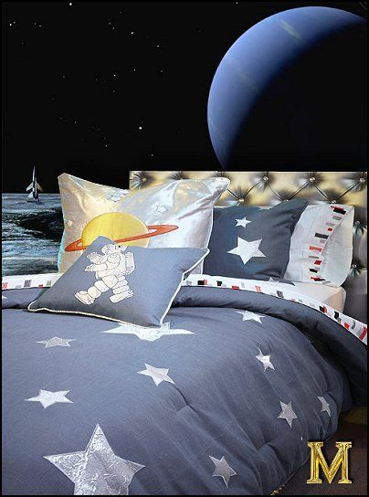 Decorating theme bedrooms maries manor celestial moon for Outer space decor ideas
