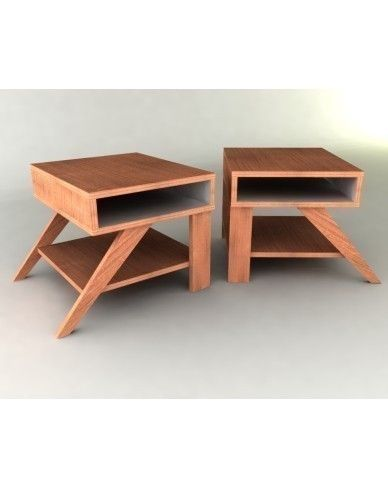 Retro Modern Eames Style End Tables Furniture Plan Table