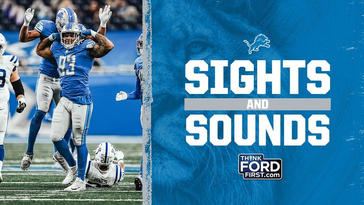 Sights And Sounds 2020 Week 8 Detroit Lions Vs Indianapolis Colts Indianapolis Colts Detroit Lions Detroit