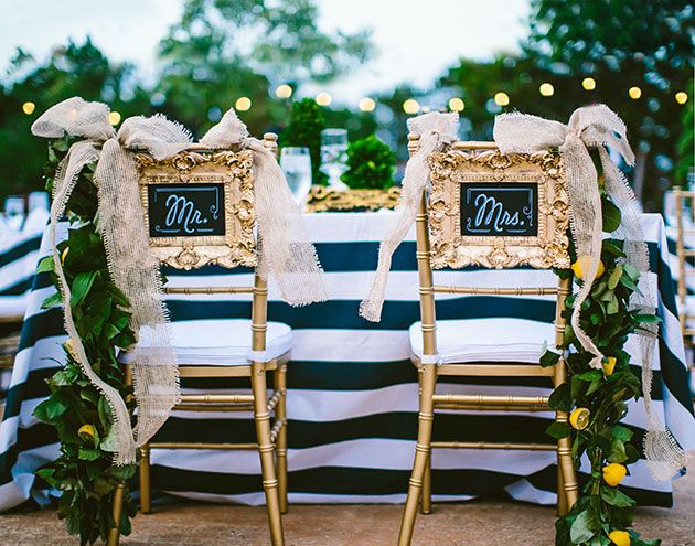5 Ways To Decorate Your Bride And Groom Wedding Chairs