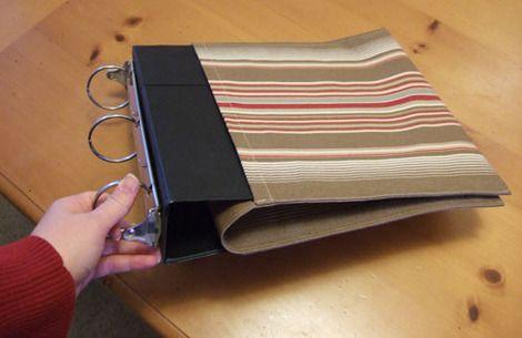 make simple photo album from 3 ring binder