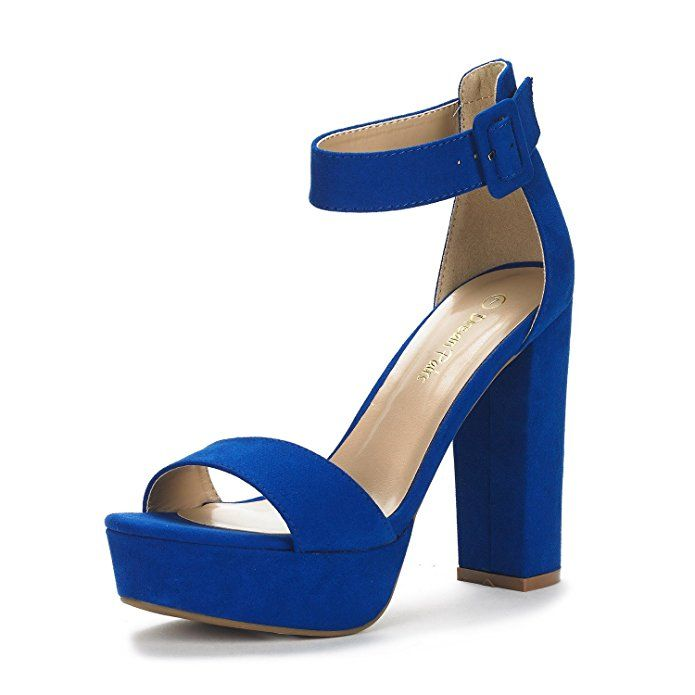 Evening Dress High Chunky Platform Heel