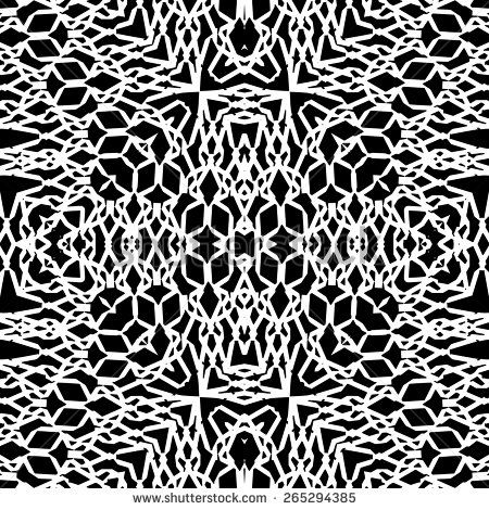White lace texture on black, Abstract seamless pattern, vector illustration - stock vector