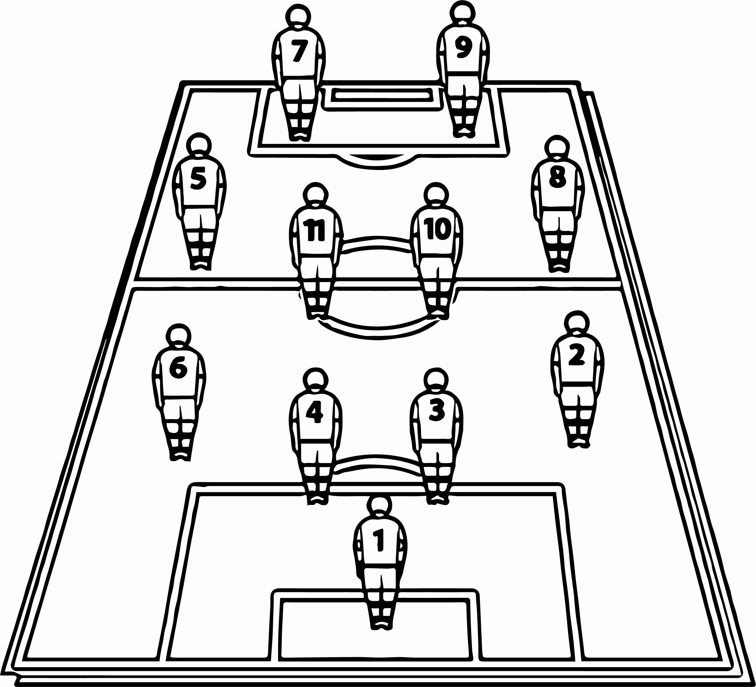 28 Football Field Coloring Page With Images Football Tactics