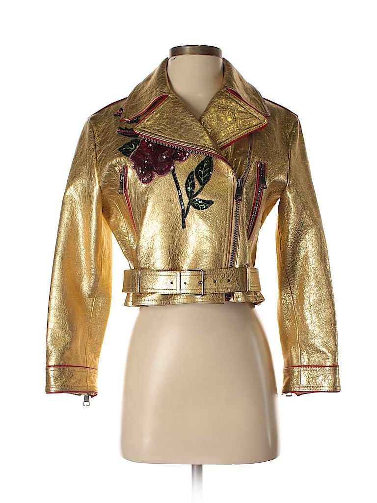 Short Leather Biker Jacket Gucci leather jacket, Jackets