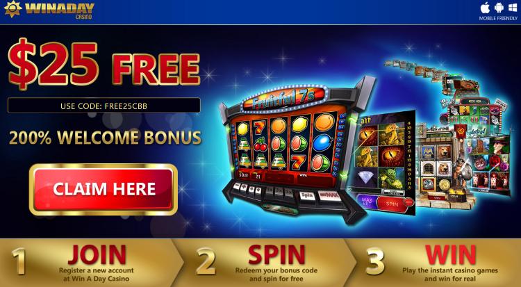 Exclusive Match + 25 FREE Winaday Casino