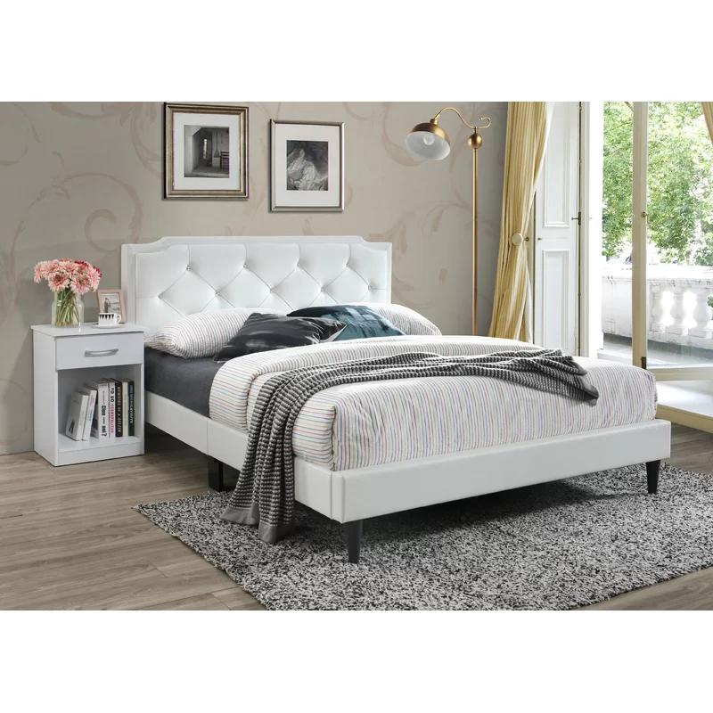 Edna Upholstered Standard Bed Upholstered panel bed