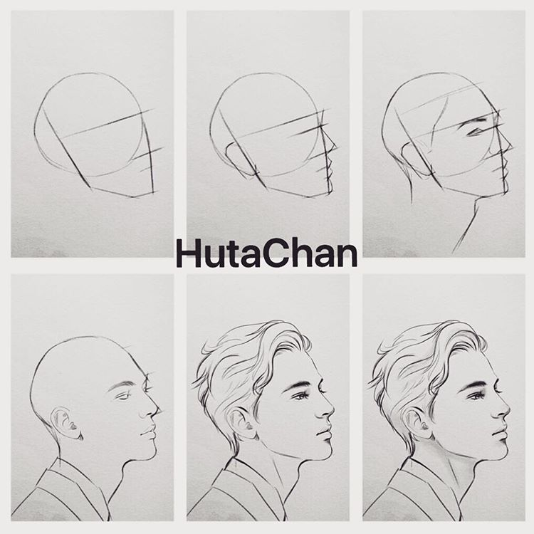 Tutorial Drawing Draw Tutorial Anime Semirealistic Art Artwork Hair Boy Handsome Sketch Goodnigh Drawing Tutorial Sketches Tutorial Drawing Heads